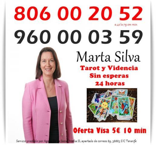 vidente de nacimiento marta silva por visa 5 10 min. 806 por 0,4