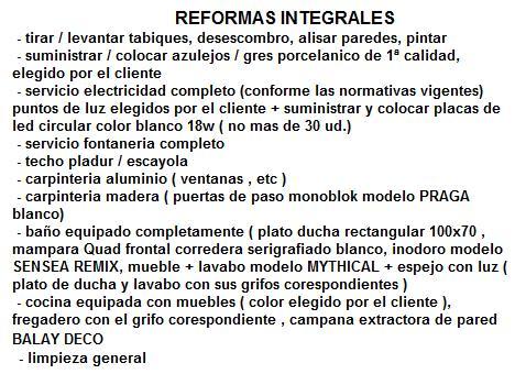 Reformas Integrales desde 250 m2
