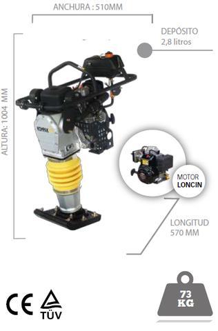 PISÓN COMPACTADOR MOTOR LONCIN 4 HP
