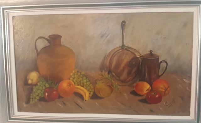 Cuadro al óleo sobre lienzo
