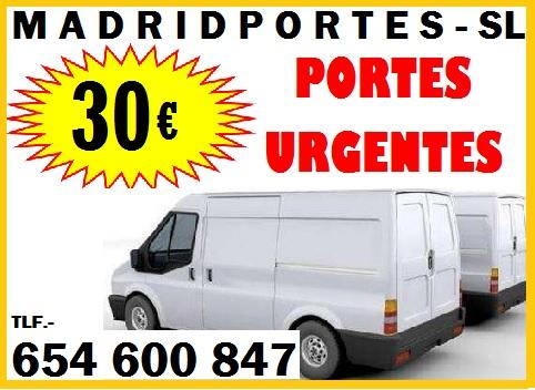 PORTES ECONOMICOS BARATOS MADRID 65::46OO847 LOW COST