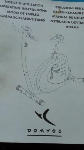 bicicleta estática , modelo, ::DOMYOS ( MAXI )