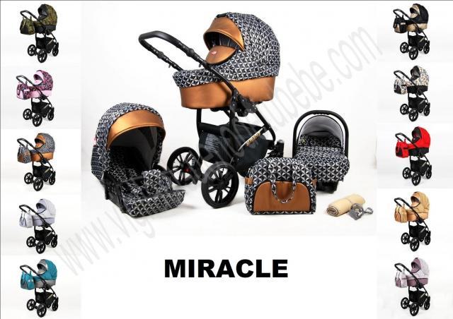 Carro de bebe Miracle Eco Piel Dorado