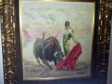 Pintura taurina de Jose Cros Estrems