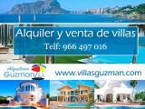 Alquilar una villa en Calpe