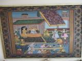tapiz de seda pintado amano