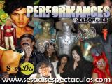 personajes y performances, actores